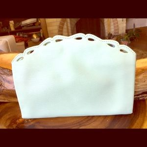 Banana Republic Seafoam Green Leather Clutch